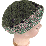 Pink and Green Doll Tam Hat