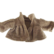 Small Brown Faux Fur Doll Jacket