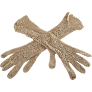 Long Crocheted Gloves