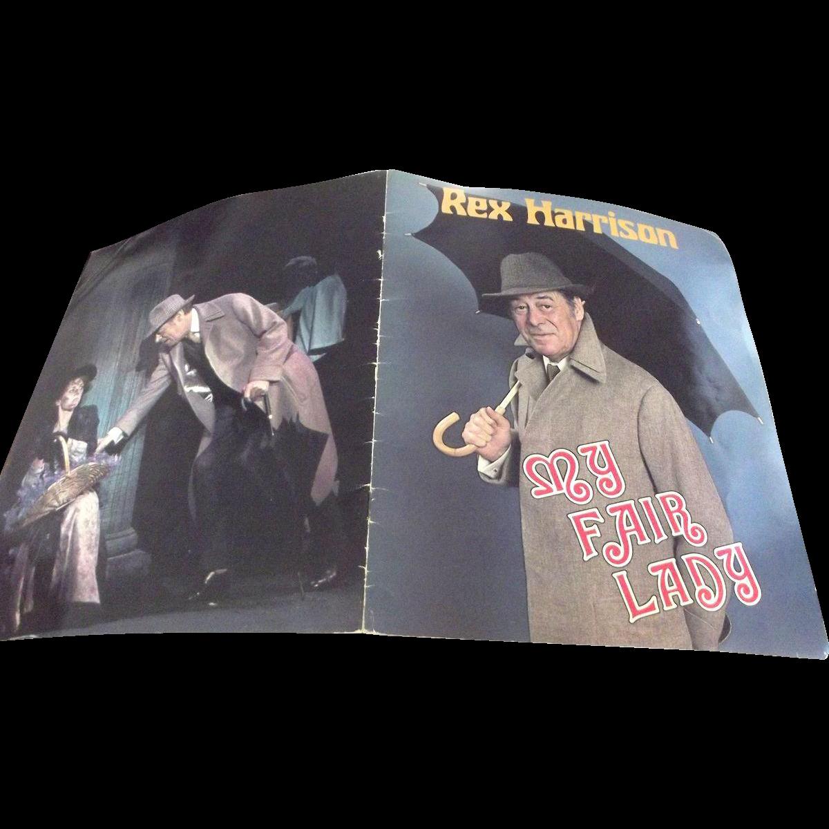 Broadway Program of My Fair Lady Revival in 1981