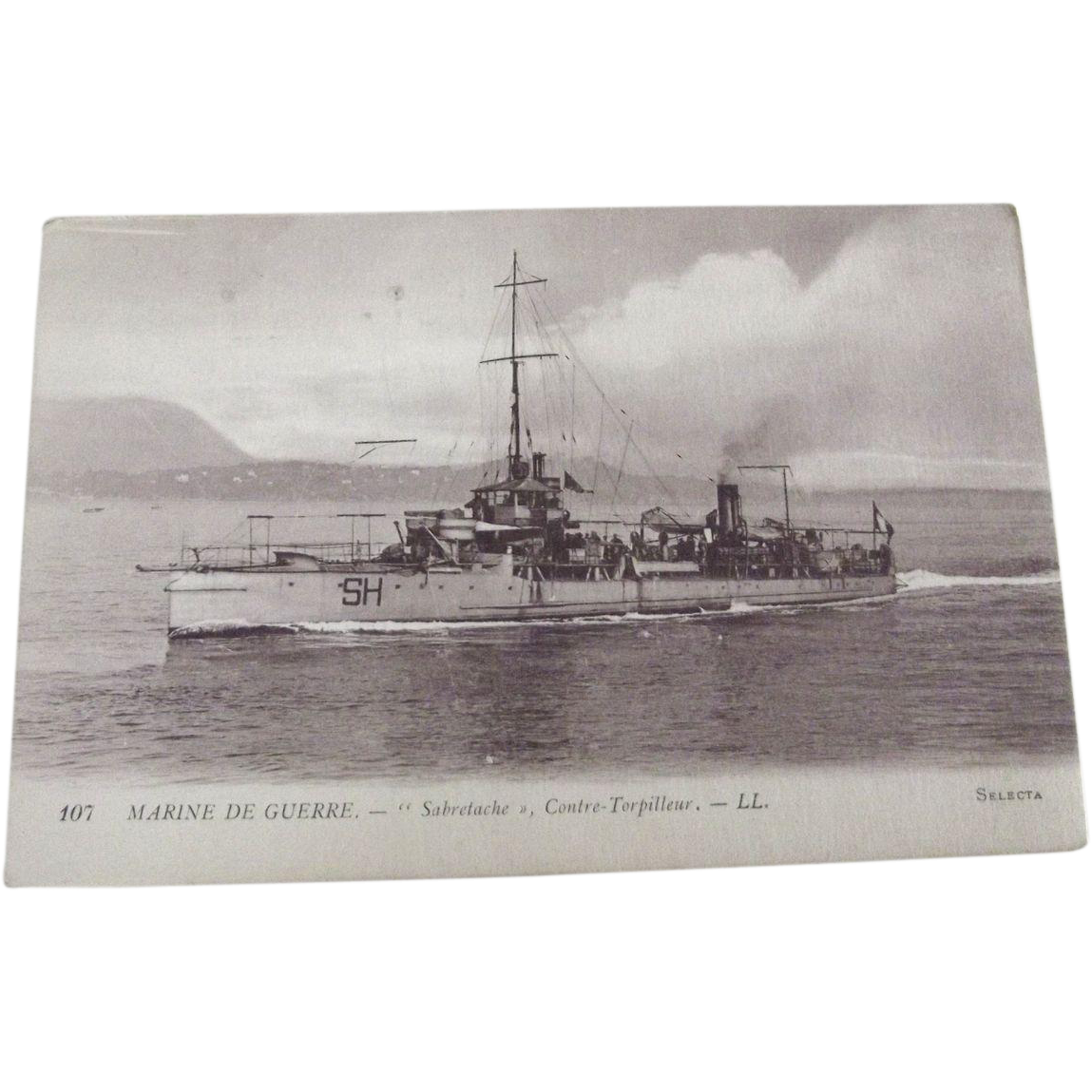 "French War Ship ""Sabrelache"""
