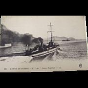 """French War Ship Post Card """"L'Arc"""""""