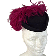 Hat With Red Feather, 1930's
