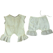 Two Pieces of Early Doll Undies For A Large Doll