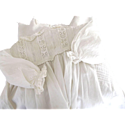 Victorian Long Baby Gown With Tucks and Eyelet