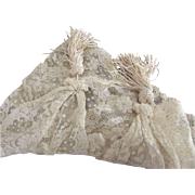 Victorian/Edwardian Lace Piece With Tassels