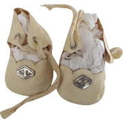 Cream Colored Doll Shoes