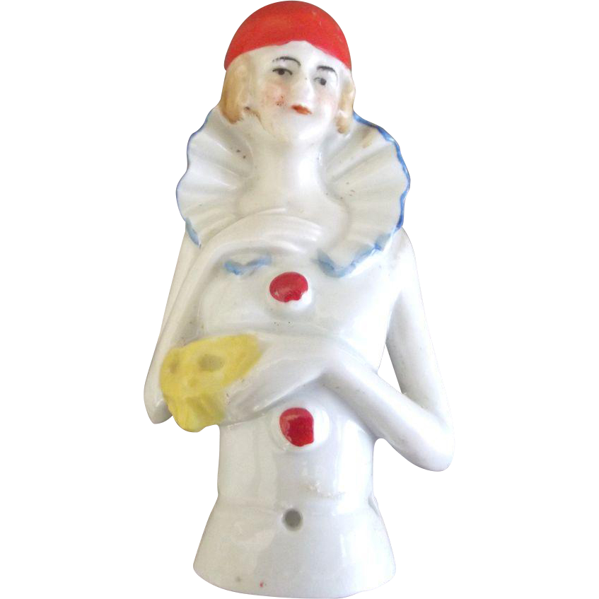 Art Deco  German Pin Cushion Doll Holding Mask