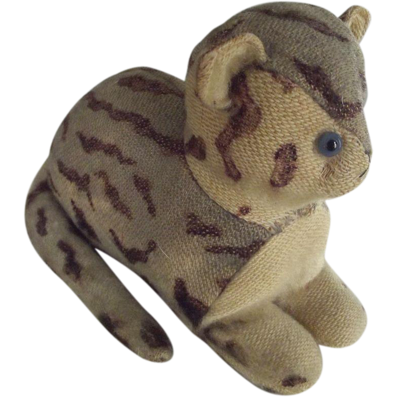Early Stuffed English Cat Lying Down