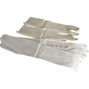 Early White Opera Gloves One Made In France