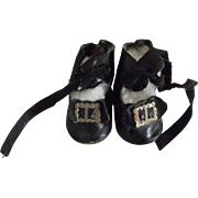 Black Oil Cloth Small Shoes