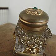 Fancy Ormulu Victorian Inkwell