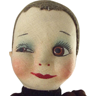 Winking Cloth Doll