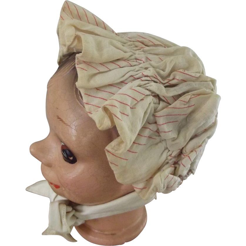 Poke Bonnet For Doll