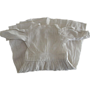 Simple White Cotton Doll Dress For Early China or Bisque