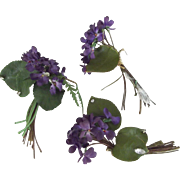 Three Vintage Bunches of Violets - Red Tag Sale Item