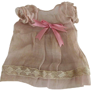 Pink Organdy Doll Dress For A Small Doll