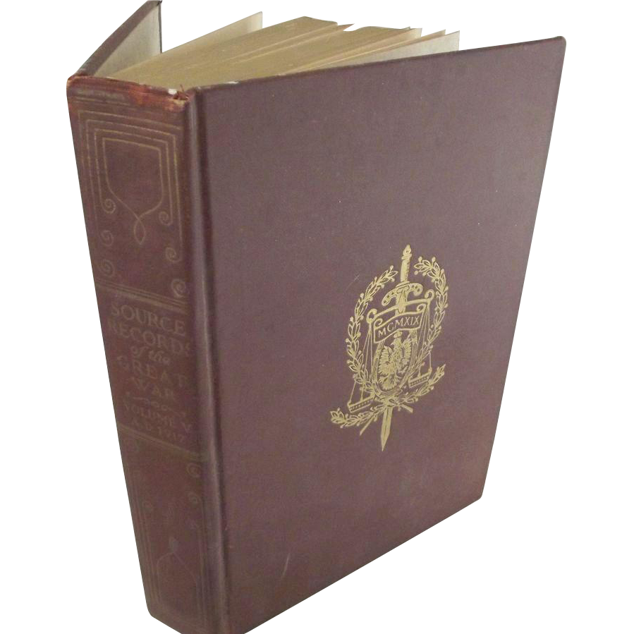 "World War One Book ""Source Records of the Great War"" Volume 5"