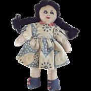 Tiny Cloth Rag Doll 1950's