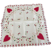Valentine or Sweetheart Handkerchief