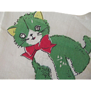 Child's Handkerchief With Kittens