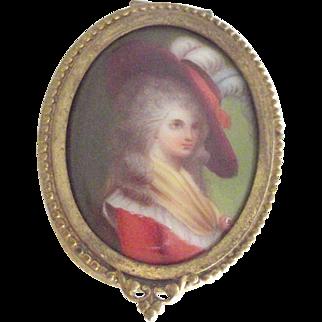 Hand Painted Lady Trinket Box