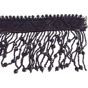 Jet Beaded Piece For Trimming, Hats,Dresses, Crafts