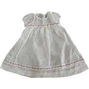 Organdy Doll Dress With Red Trim