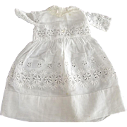 Doll Dress Eyelet and Lace