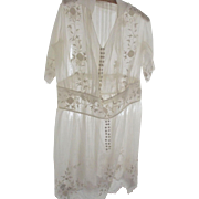 Flapper White Dress, Possibly A wedding Dress or Graduation Dress