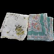 Two Vintage Handkerchiefs