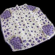Vintage Handkerchief With Violets