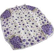 Vintage Handkerchief With Violets