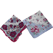 Pair of Floral Handerkerchiefs