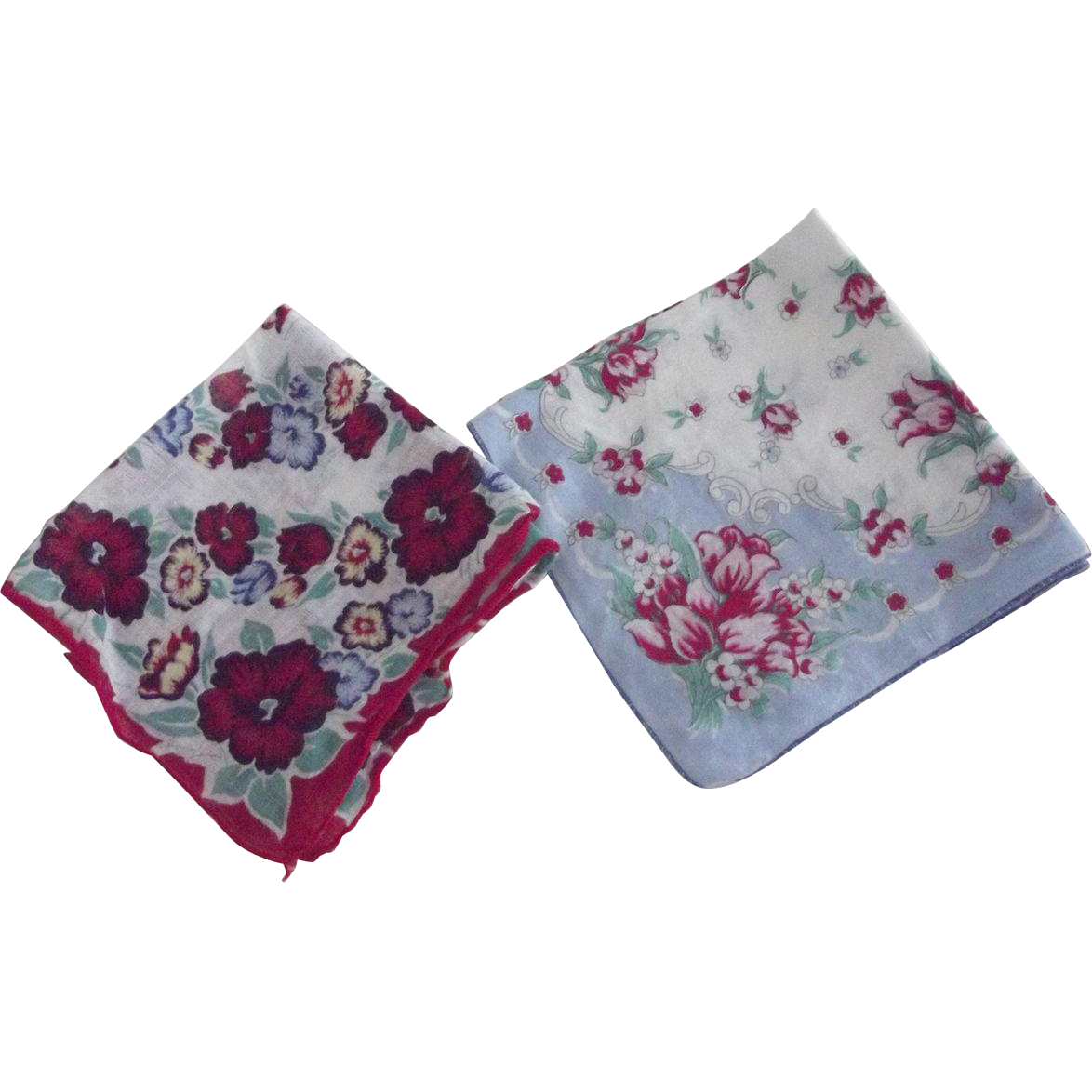 Pair of Floral Handerkerchiefs