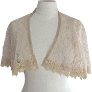 Lace Cape With Lace Trim