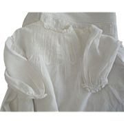 Victorian/Edwardian White Gown With Tiny Tucks, Lace and Eyelet Good For a Large Doll