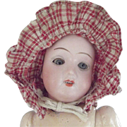Early Doll Prairie Bonnet Red and White Checks