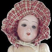 Early Doll Prairie Bonnet Red and White Checks