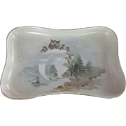 Small Austrian Pin Tray With Owls and Pine Trees