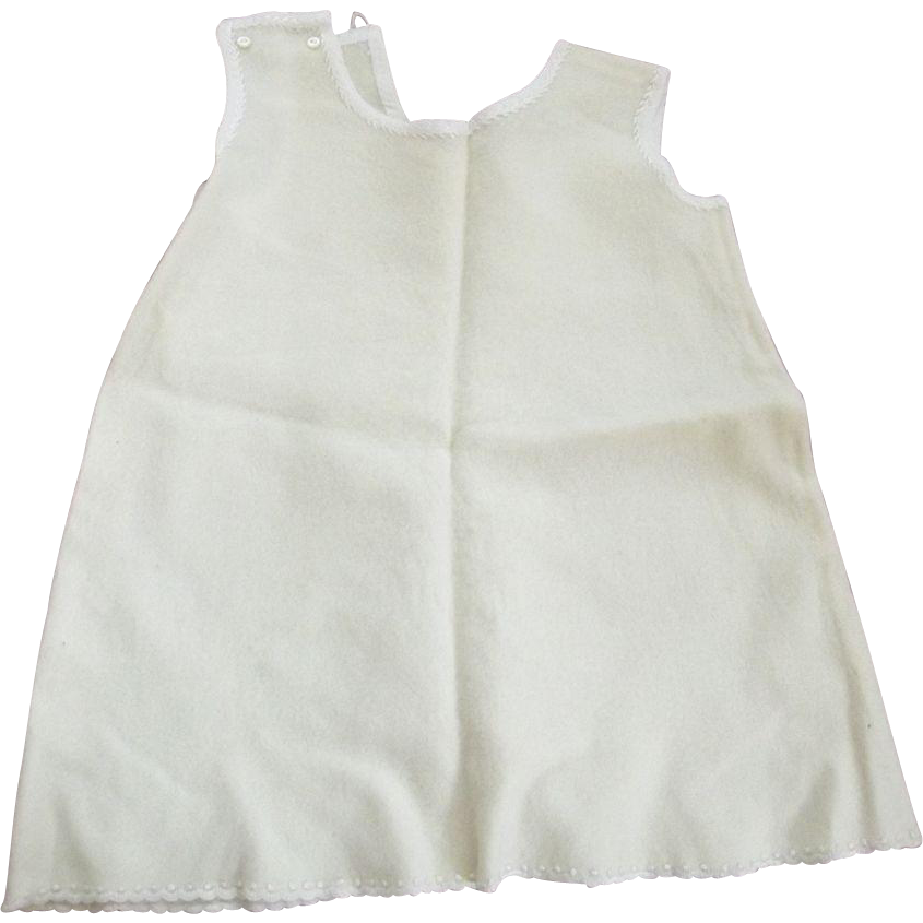 Wool Baby Slip With Silk Feather Stitching Good For Baby Doll