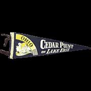 Cedar Point On Lake Erie, Ohio Flag Pennant With Bathing Beauty