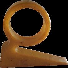 Butterscotch Bakelite Napkin Ring Trylon and Perisphere 1939
