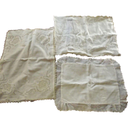 Three Small Pillow Covers