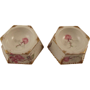 Pair of French Salts With Pink Roses
