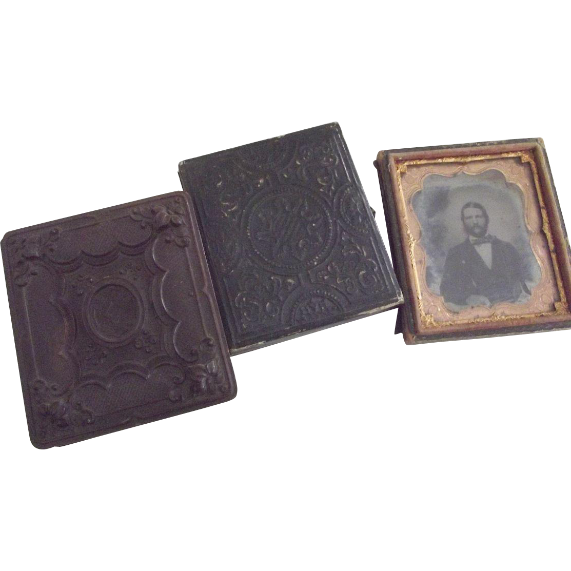 Thermoplastic Case and Two Others, One With Tintype