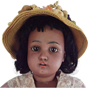 Dressel Black Bisque Doll, Cabinet Size