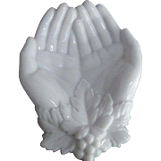 Westmoreland Milk Glass Hands
