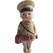All Bisque Medic, Kewpie Type Doll With Googly Eyes