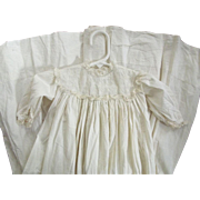 Baby Gown With Eyelet For Baby or Large Doll